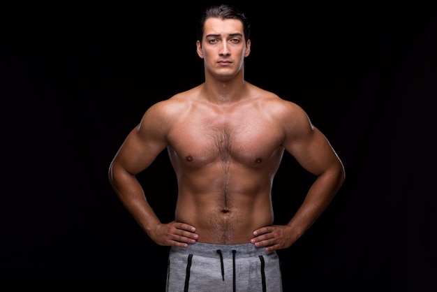 Ripped muscular man