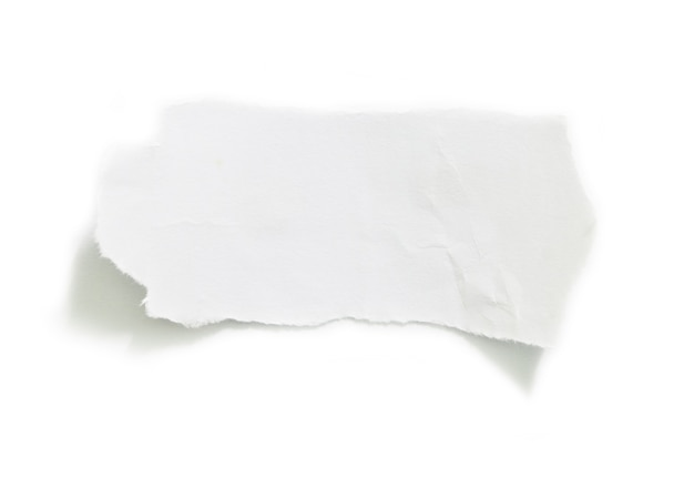 Ripped paper on white background and have copy space for design in your work