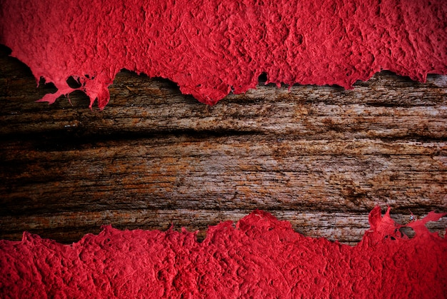 Ripped texture paper template with wood