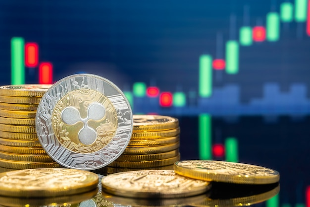 Ripple and cryptocurrency investing concept. Premium Photo