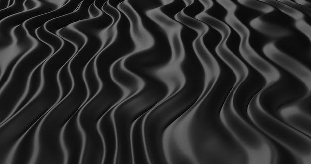 Рифленый черный шелк.