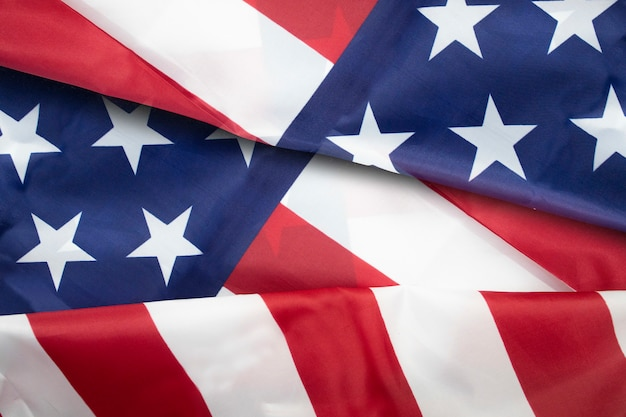 Rippled usa flag for forth of july american independence day concept