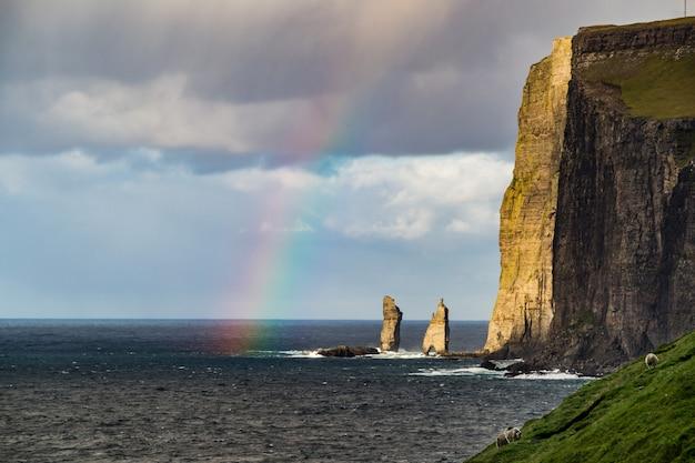 Скалы рисин и келлин, фарерские острова