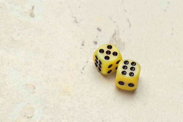 Risk concept - playing dice
