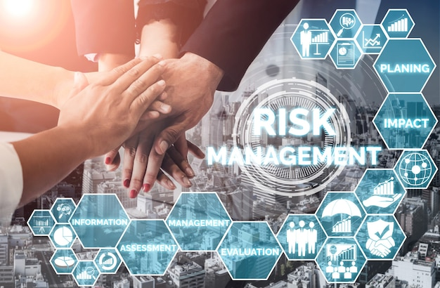 Risk management and assessment for business investment concept.