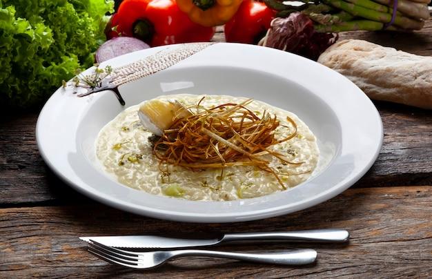 Ризотто, итальянская кухня, с сыром бри