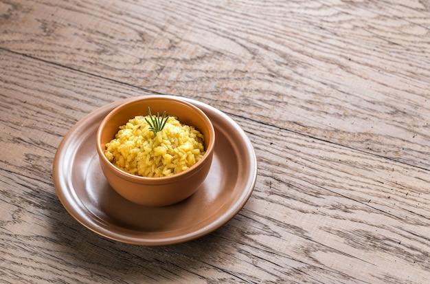 Risotto with saffron