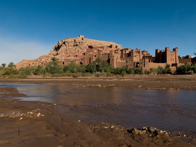 River at ait benhaddou, ouarzazate, morocco