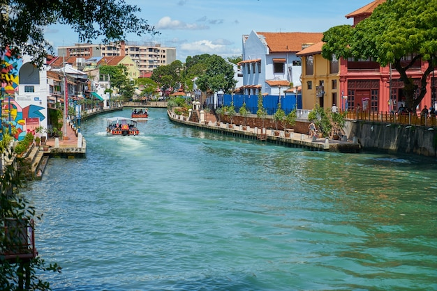 River old view melaka malacca