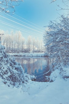 River and snowy landscape