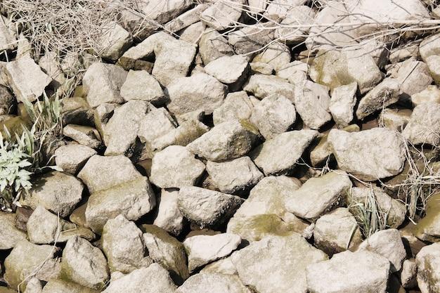 River stones background