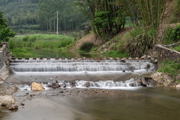 Rivers and bridges in mountain villages