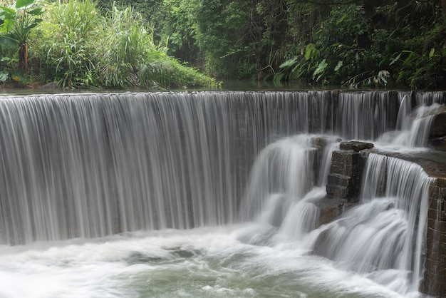 Rivers and waterfalls in the countryside