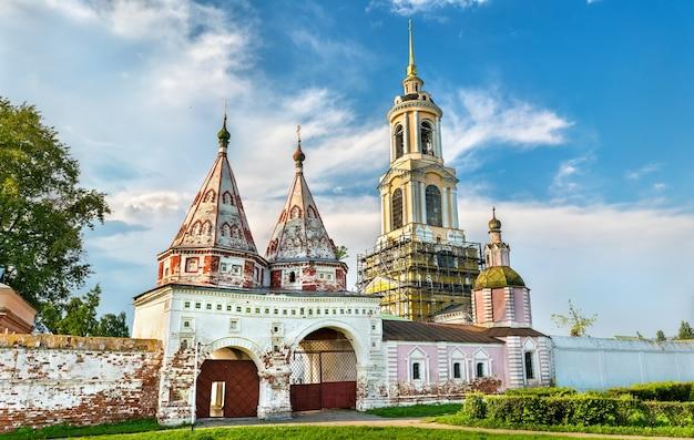 Suzdal-vladimir 지역, 러시아의 황금 반지에있는 rizopolozhensky 수도원
