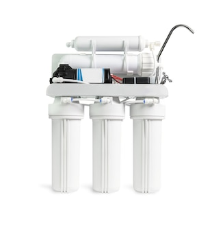 Ro water purifier filter isolated on white with a cliping path.