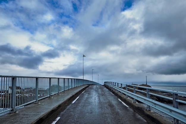 Road on bridge in norway