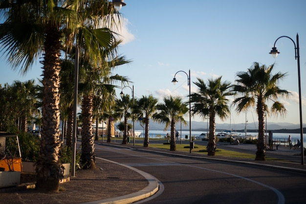 Road by the sea in costa brava