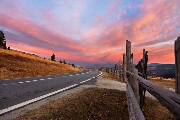 Road in carpathian mountains