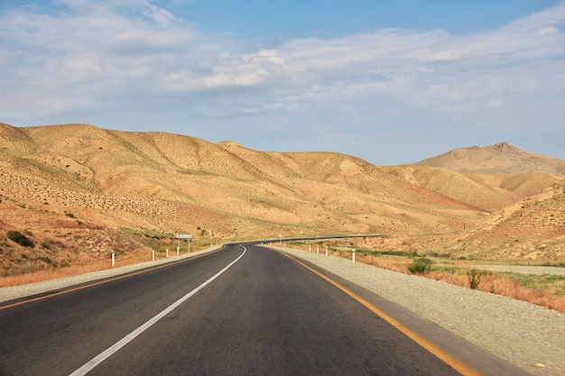 The road in caucasian mountains, azerbaijan