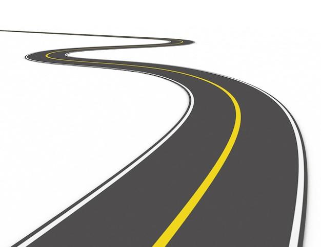 흰색 바탕에 도로 개념