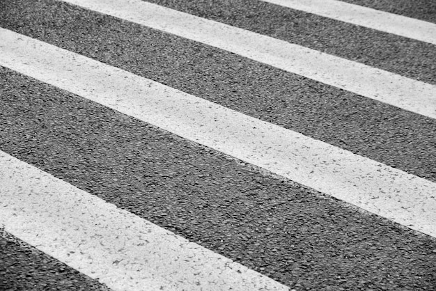 Road crossing. black and white. the concept of different stages of life.