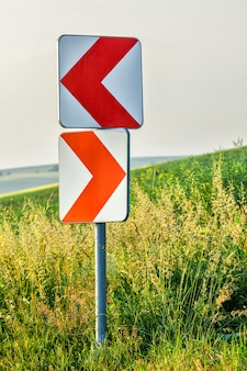 Road curve signs