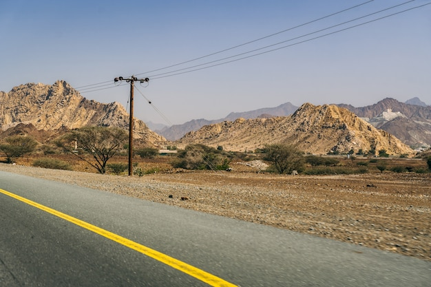 On the road in the emirates country