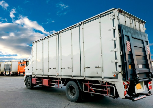Road freight industry truck cargo transport shipment