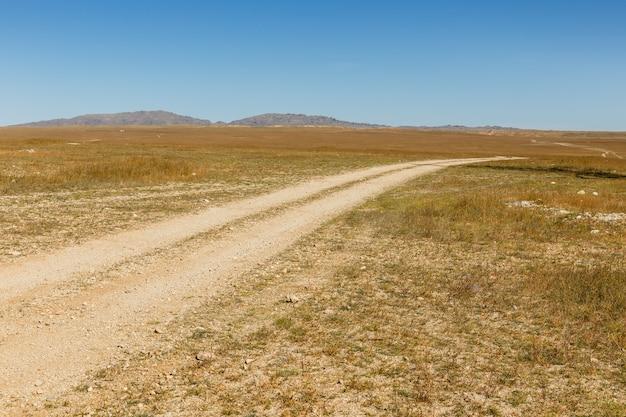 몽골 대초원의 도로, 풍경, 고비 사막 몽골