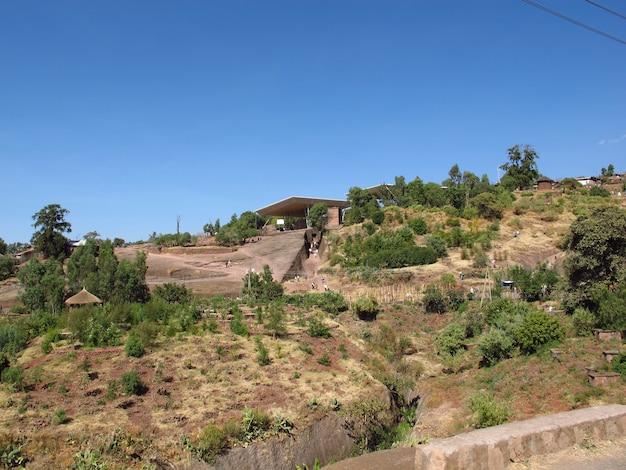エチオピア、ラリベラ郊外の道路