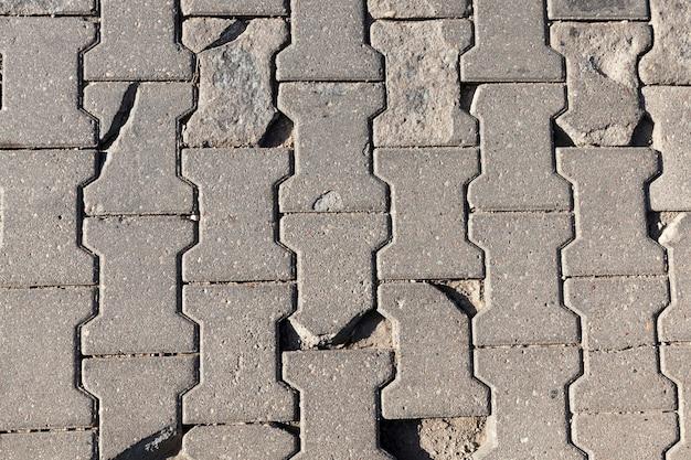 コンクリートタイルでできた道路