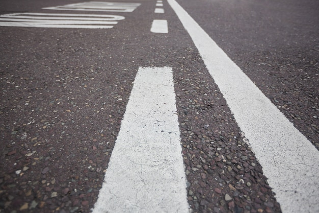 Road marking on road surface
