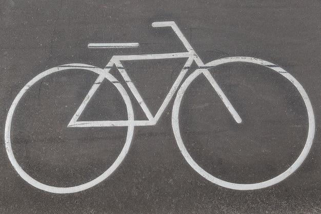 자전거 차선 표시를위한 도로 표시