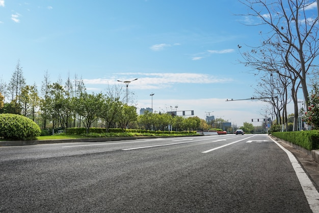 Road and park