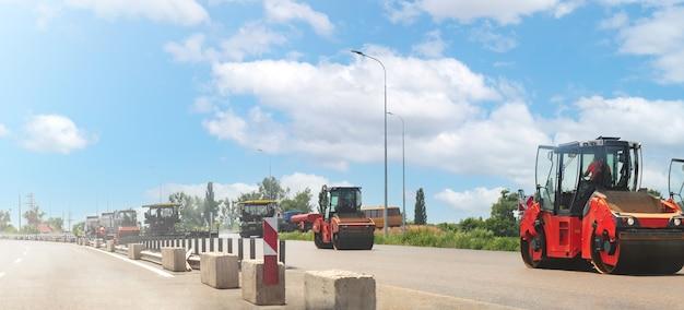 Дорожный каток вибрационная машина для уплотнения асфальта при строительных дорожных работах