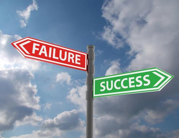 단어 실패와 성공도 표지판 개념