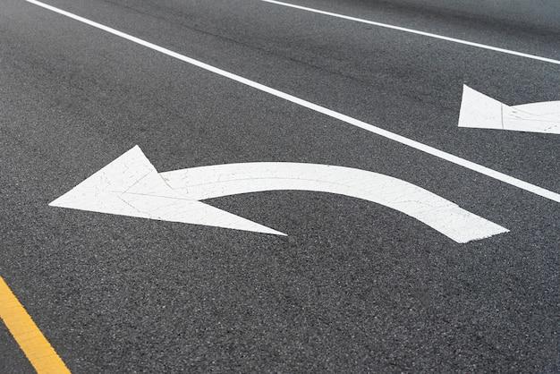 Road signage closeup