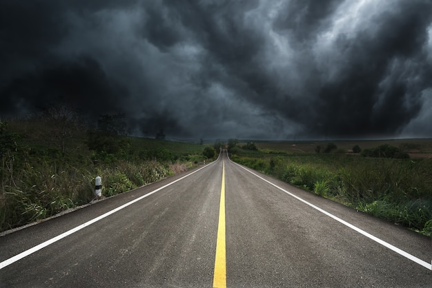 The road to storm