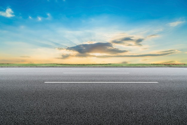 Road surface and sky natural landscape