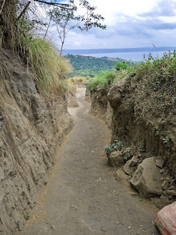 The road to taal volcano in philippines
