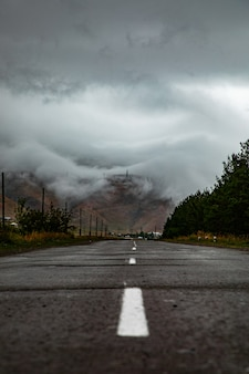 A road through clouds