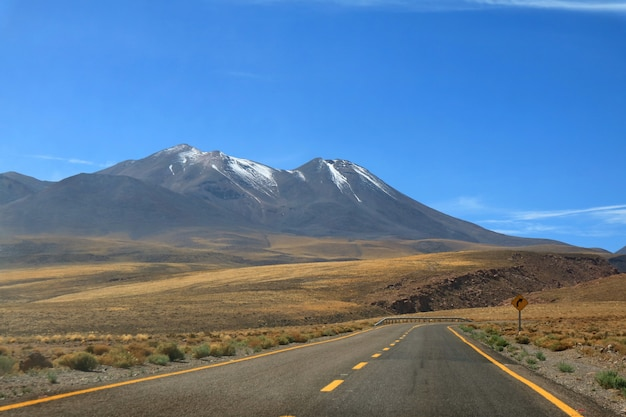 Road trip to the high altitude desert of atacama desert in northern chile, south america