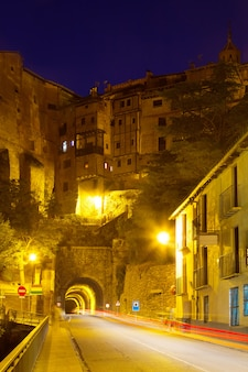 Road with tunnel at albarracin