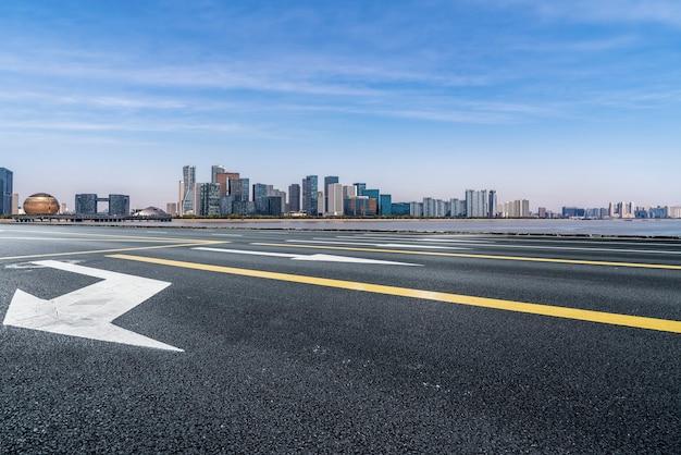現代中国の都市の道路と建築景観