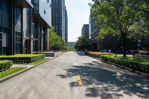 Roads and office buildings