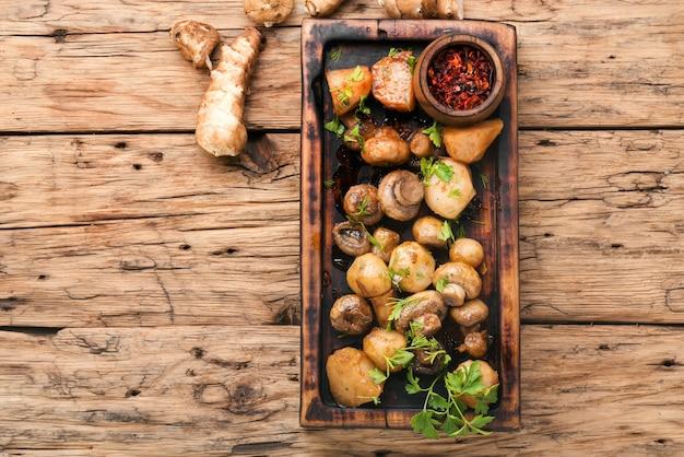 Roast jerusalem artichoke