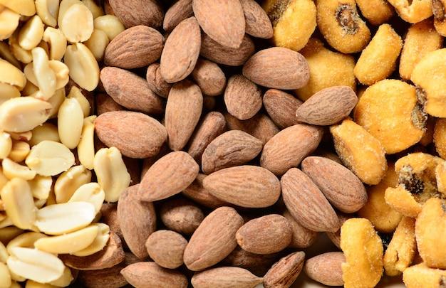 볶고 소금에 절인 땅콩, 견과류, 옥수수