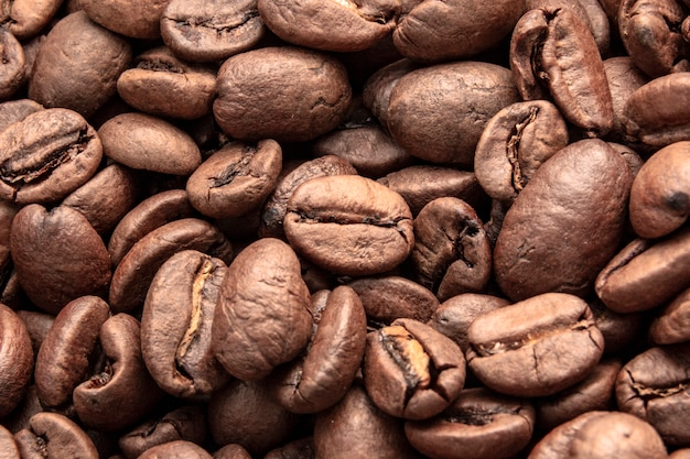 Roasted brown coffee beans pattern, coffee beans ,