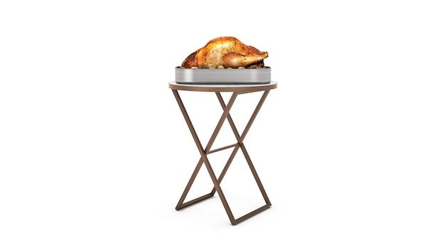 구운 치킨 3d 렌더링