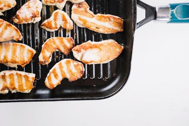Жареное куриное филе на сковороде